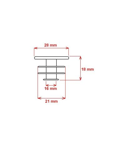 FORCE PVC Zatyczka do kierownicy