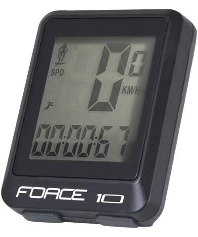 FORCE 10 Licznik rowerowy, przewodowy