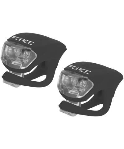 FORCE DOUBLE czarne zestaw lampek LED