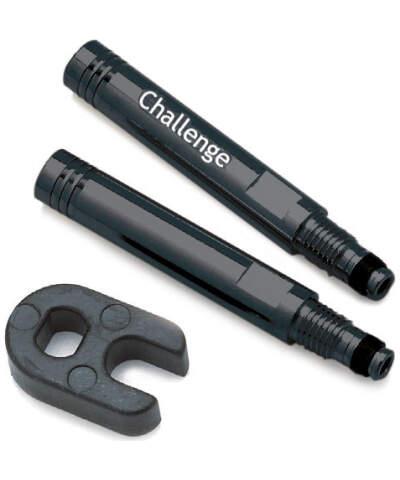 CHALLENGE Przedłużka do wentyla presta + klucz