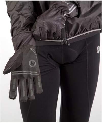 Cienkie zimowe rękawiczki softshell z antypoślizgową warstwą Rogelli ANGOON