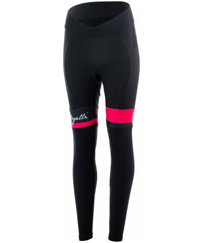 Mocno ocieplane, damskie spodnie rowerowe Rogelli SELECT z żelową wkładką