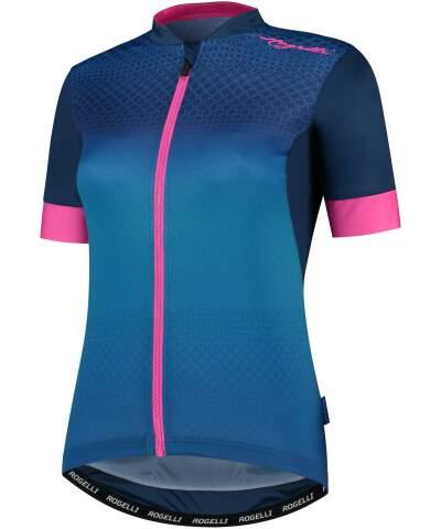 Damska koszulka rowerowa Rogelli LUX z krótkim rękawem