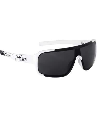 Okulary rowerowe damskie Force CHIC szkła czarny laser