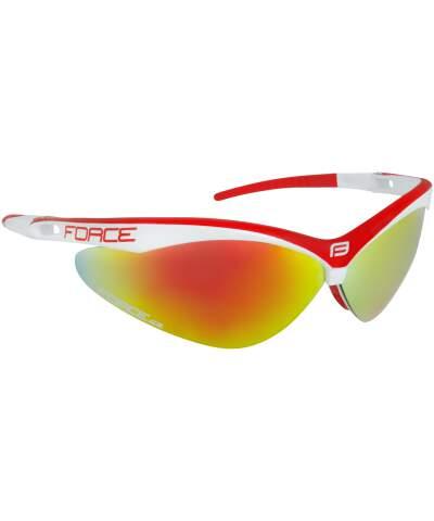 Okulary rowerowe Force AIR szkła czerwony laser