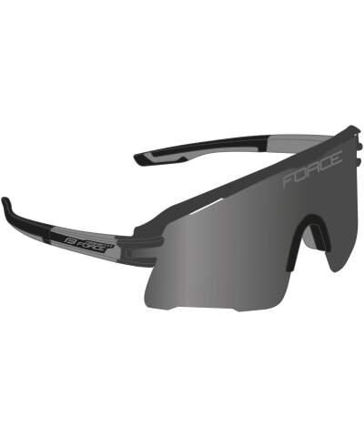 Okulary rowerowe Force AMBIENT szkła czarne lustrzane