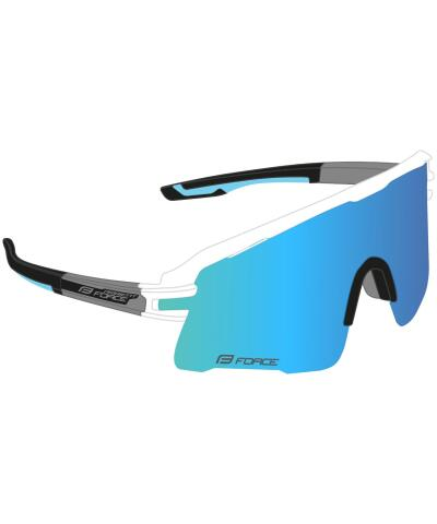 Okulary rowerowe Force AMBIENT szkła niebieskie lustrzane