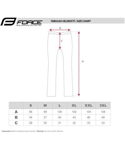 Długie spodnie - FORCE - męskie bez szelek - luźna