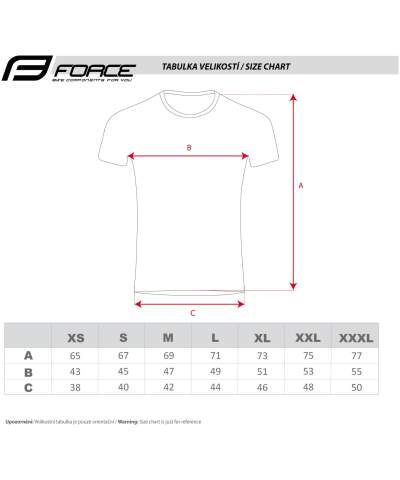 Koszulki - t-shirt force tabela rozmiarów